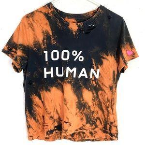 Everlane 100% Human Custom Bleached Distressed Tee
